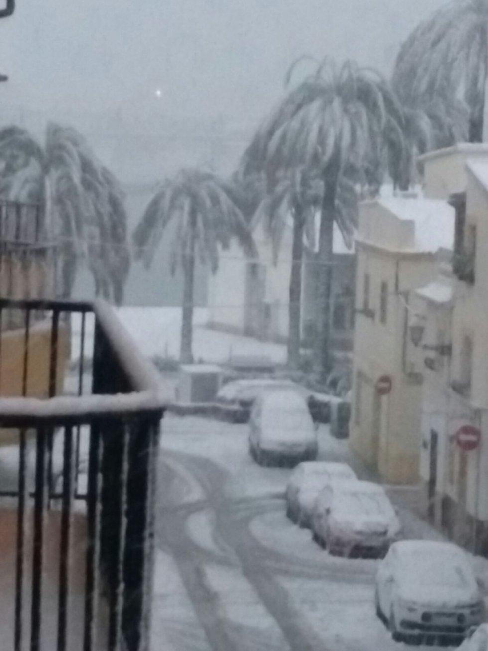 Denia, bajo la nieve