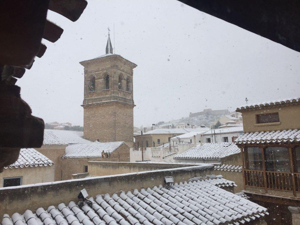 Estampa nevada de Pozo Cañada