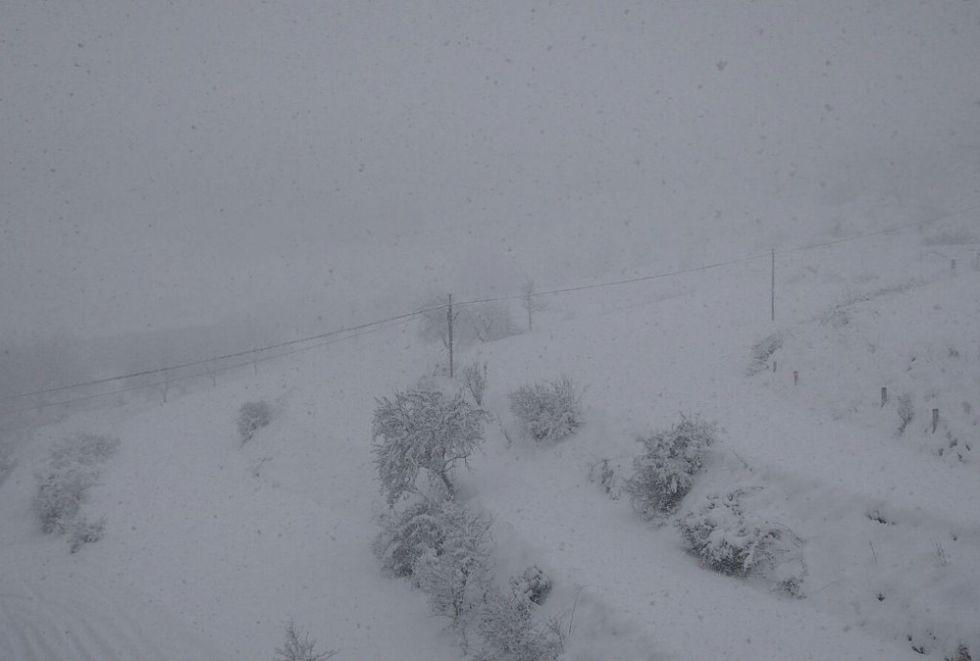 En Nerpio (Albacete) se han acumulado ya más de 20 cm de nieve