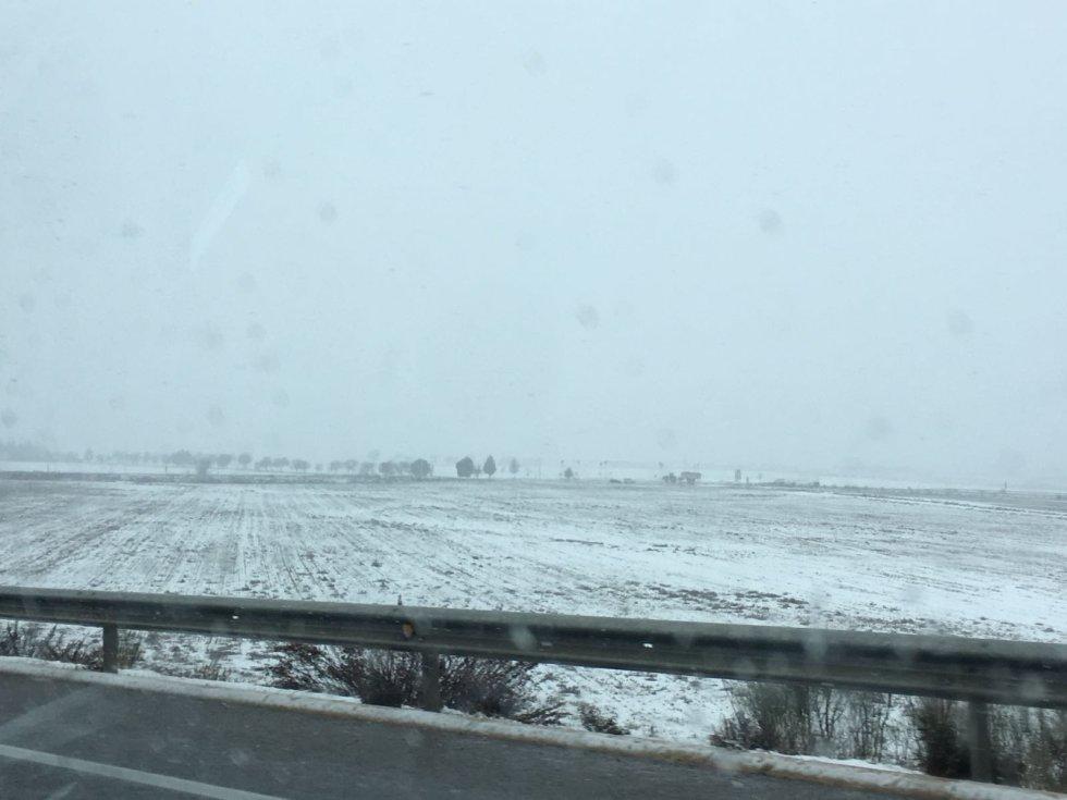 Estampa nevada en la provincia de Albacete
