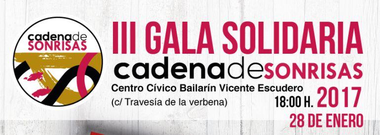 Cartel de la 3ª Gala Solidaria 'Cadena de sonrisas'