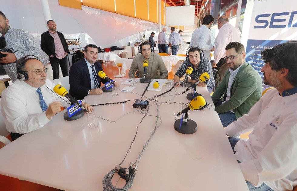 Relaño, Camacho, Belmonte y el chef Pablo Martínez en Ser Deportivos (Foto: Pascu Méndez)