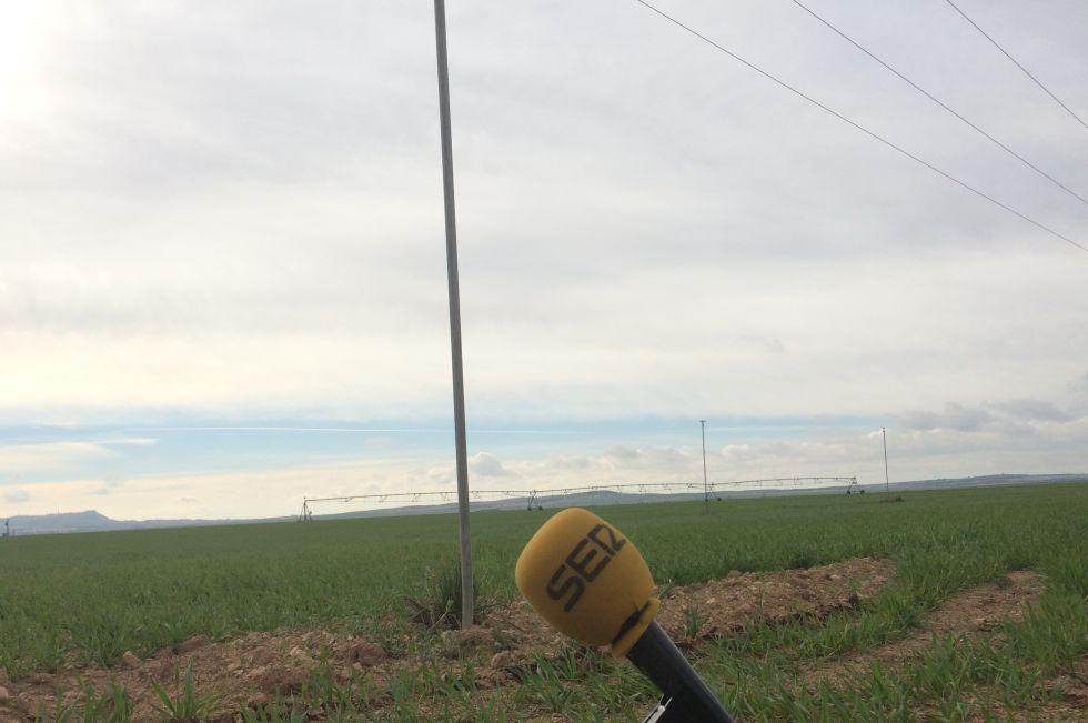 Un pivot de riego, cerca de Albacete