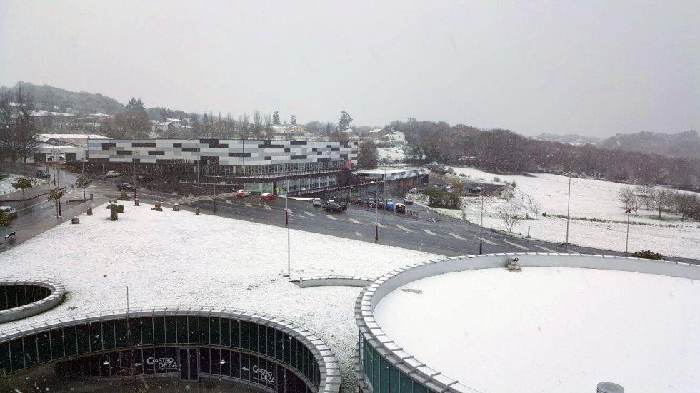 Nieve en zona baja,Lalín