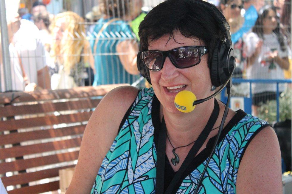 Ruth Haswell, experta pirotécnica de Radio Alicante