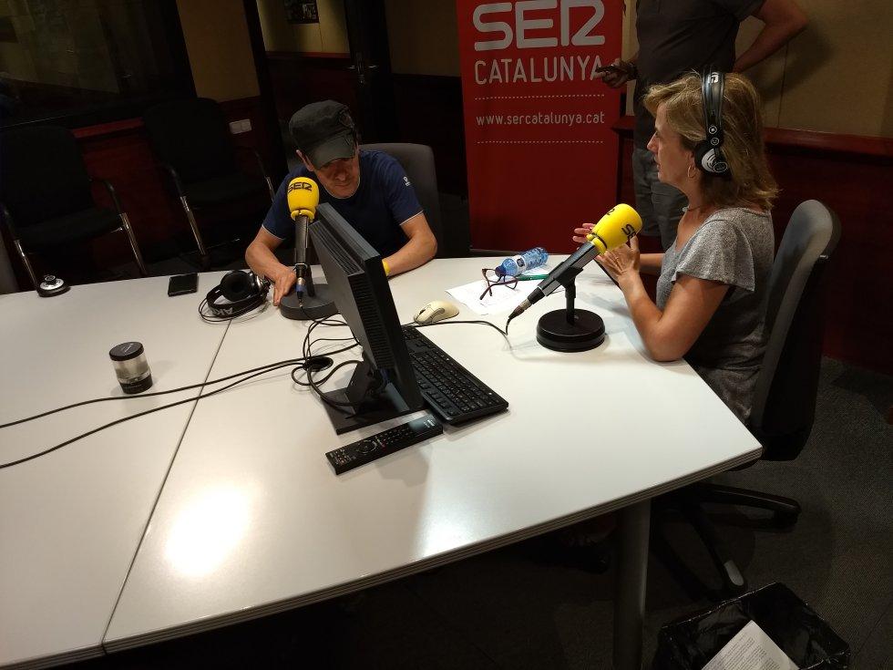 Juan Carlos Ortega y Gemma Nierga, minutos anrtes del inicio del programa