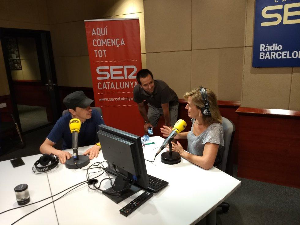 Juan Carlos Ortega, Iván Díez y Gemma Nierga