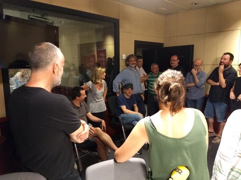La redacción de Radio Barcelona con Gemma Nierga