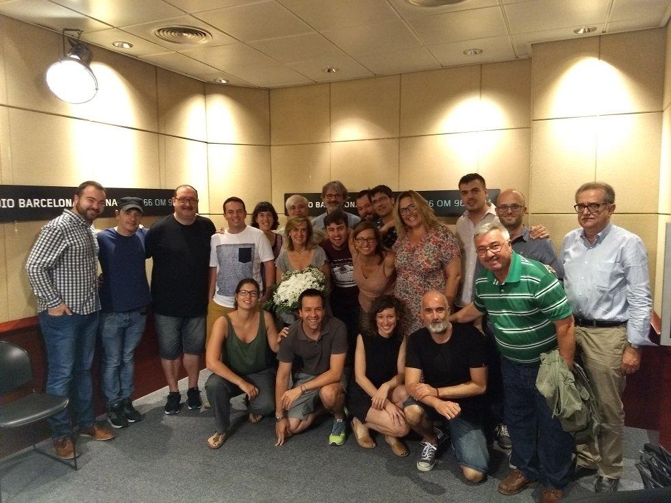 Parte de la redacción de Radio Barcelona con Gemma