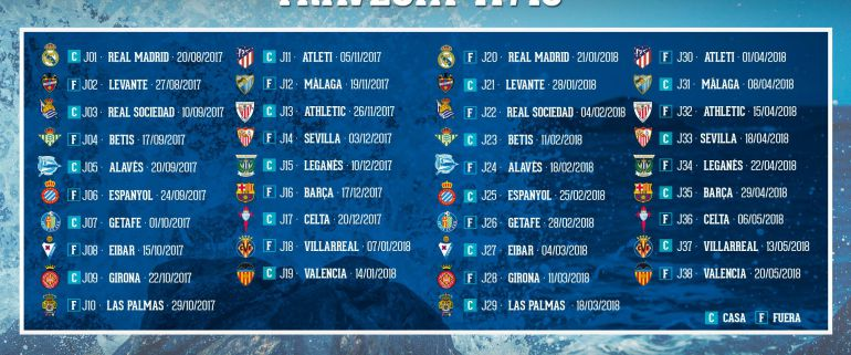 Calendario Real Madrid Liga.Calendario De Liga Depor Real Madrid Para Abrir La Liga Radio