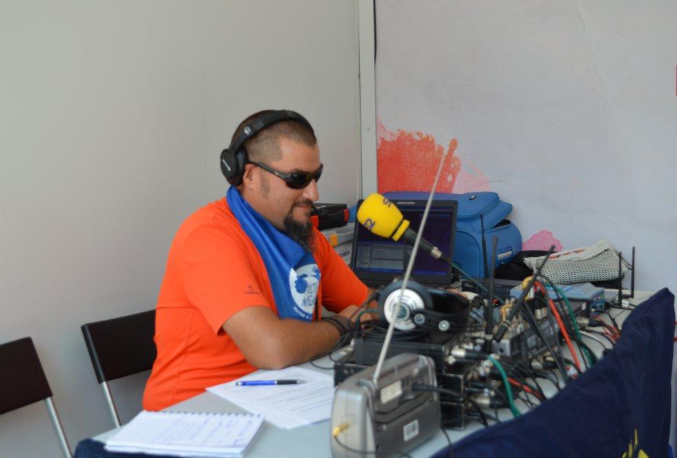El técnico de sonido Iñaki Mardones