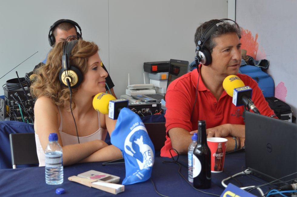 Eva Conde y Diego González durante el programa
