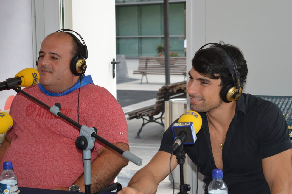 Christian Sánchez e Ibon Erraiz durante el programa.