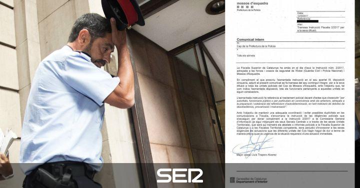 Trapero traslada la instrucción de Fiscalía a los Mossos