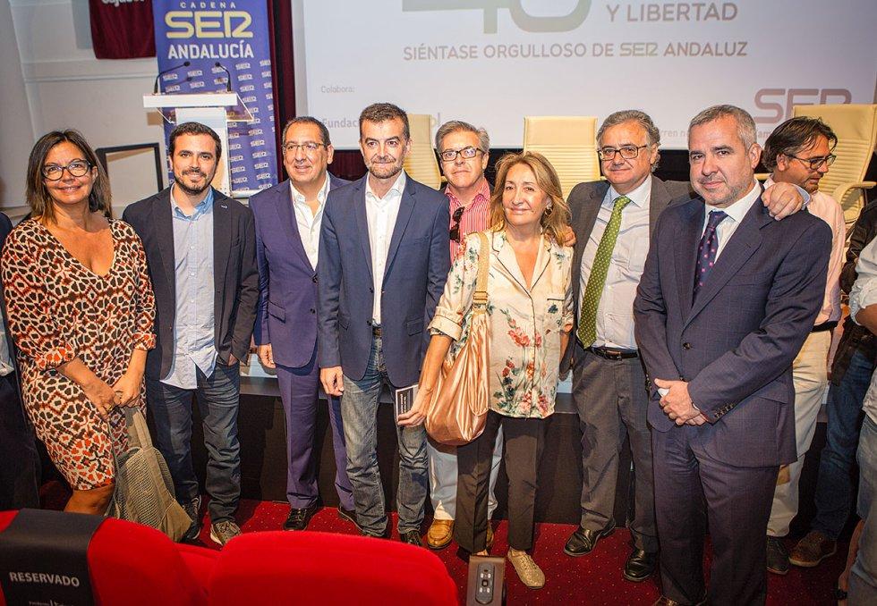 Angels Barceló, Alberto Garzón,Antonio Pulido,Ildefonso Vergara, María Esperanza Sánchez, Antonio Yélamo y Diego Suárez
