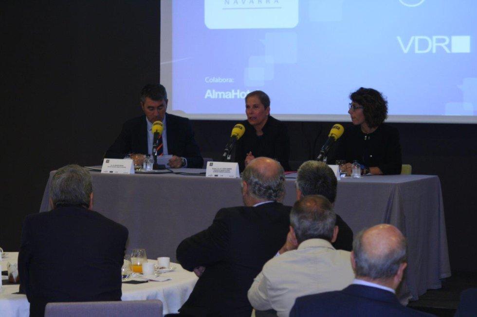 Foro SER Navarra con la presidenta del Gobierno de Navarra, Uxue Barkos, como invitada