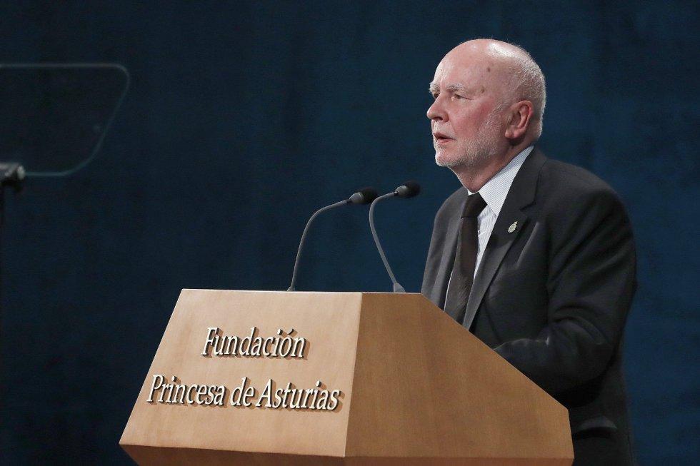 El premio Príncipe de Asturias 2017 de las Letras, Adam Zagajewski, durante su intervención