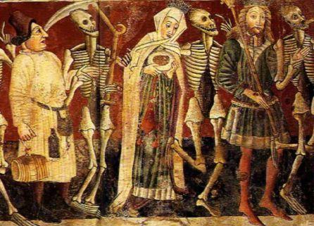 La danza de la muerte fue un movimiento artístico de finales de la Edad Media.