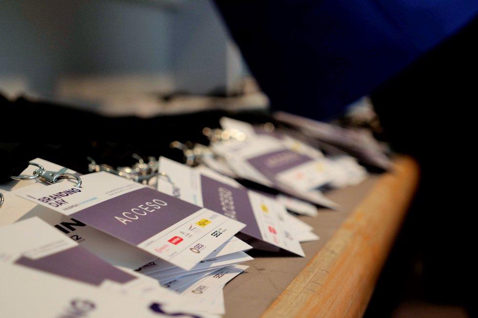 Acreditaciones en el Palacio de Congresos de Valencia para acceder al Branding Day