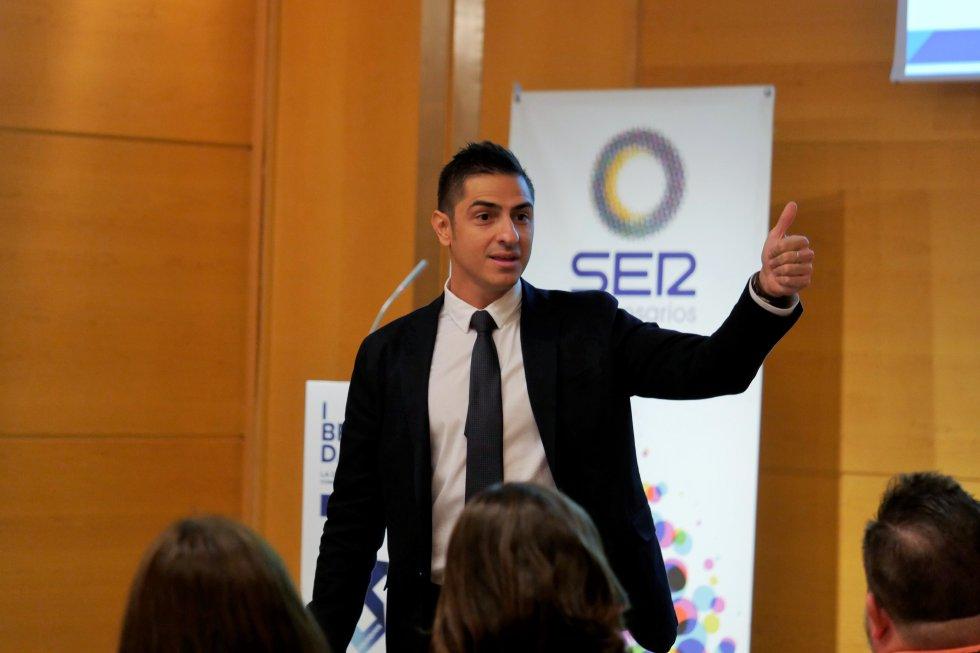 Oscar Jiménez, coordinador de Branding Day, en una ponencia ante los invitados de SER Empresarios