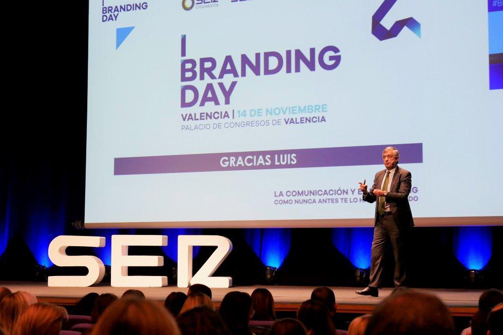 Luis Gómez, director de Marca y reputación de Iberdrola durante su ponencia en Branding Day