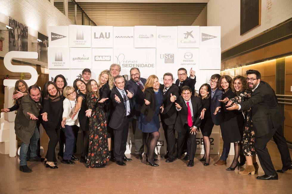 El equipo de Radio Galicia, satisfechos por el resultado de la gala.