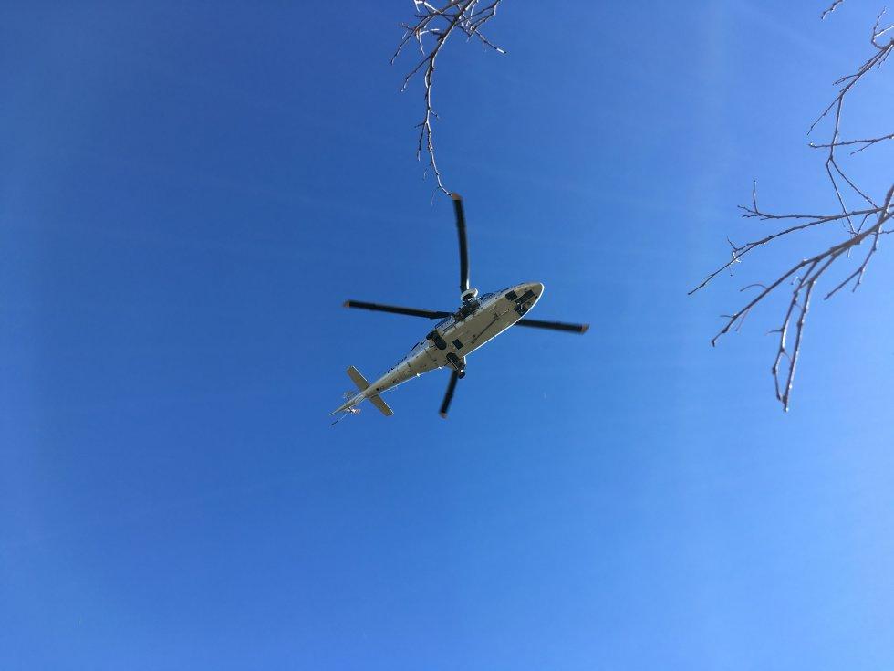 Entrenamiento del Grupo Especial de Rescate en Altura (GERA) del Consorcio Provincial de Bomberos de Valencia y el helicóptero Víctor 1 de la Agencia Valenciana de Seguridad y Respuesta a las Emergencias