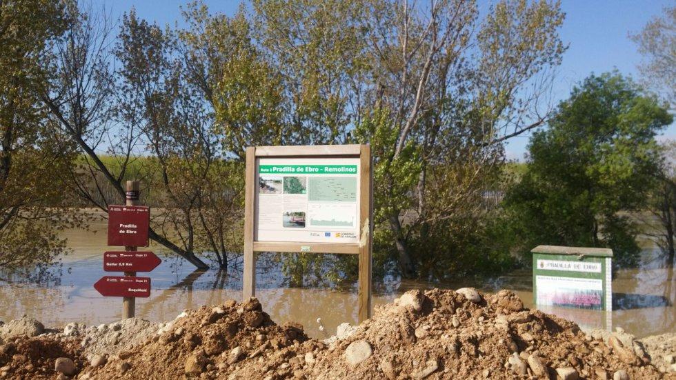 Pradilla de Ebro también ha sufrido anegación de algunas zonas
