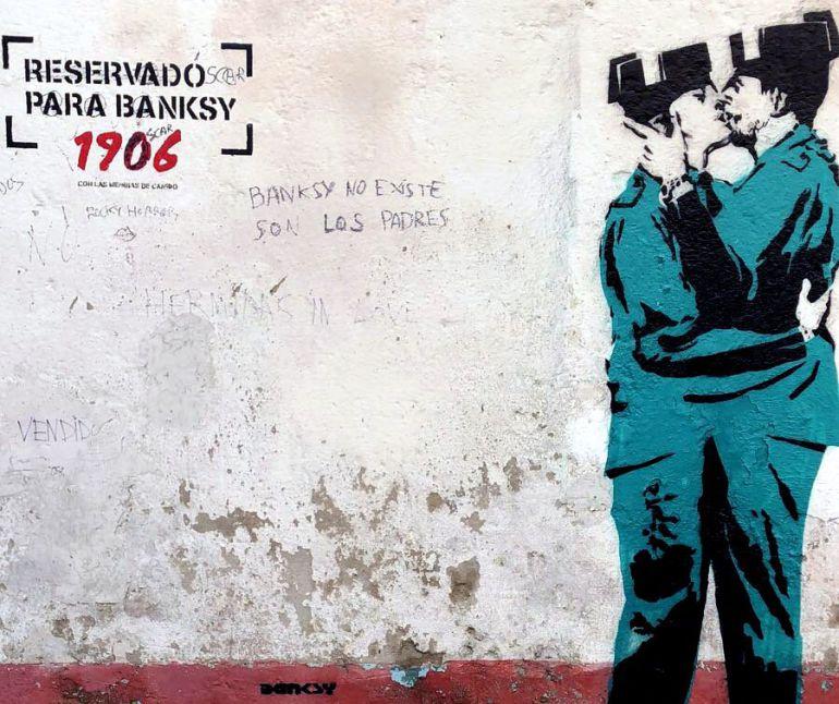 Tratan de verificar si el grafiti aparecido en Ferrol pertenece a Banksy |  Radio Galicia | Cadena SER