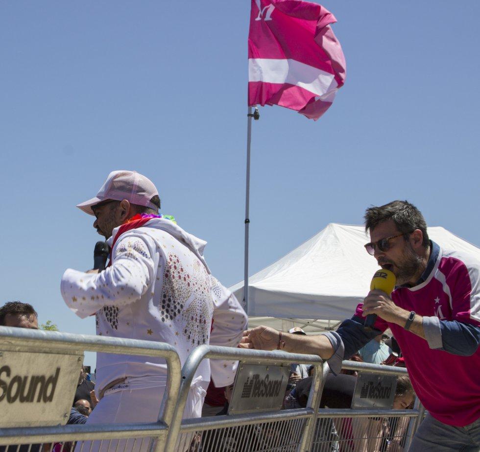 Ignatius Farray y Quequé durante el evento en Villanueva de la Torre
