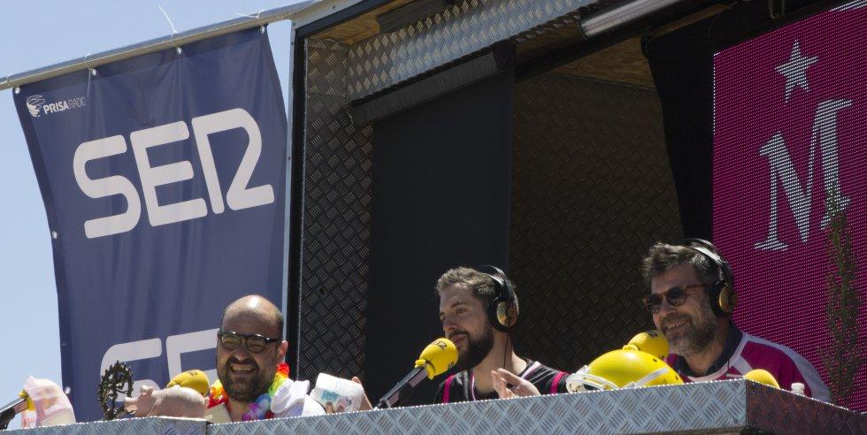 Ignatius Farray, David Broncano y Quequé durante el evento en Villanueva de la Torre