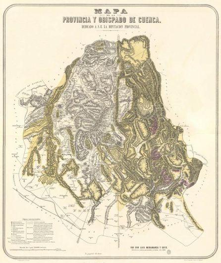 Mapa del Obispado de Cuenca.
