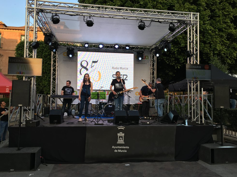 Diferentes bandas se han subido al escenario de Actúa Murcia 2018. Una de ella ha sido Vynilo