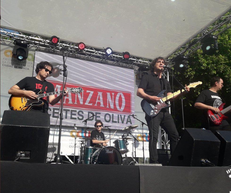 The Rogers sobre el escenario de la Glorieta en #ActúaMurcia2018