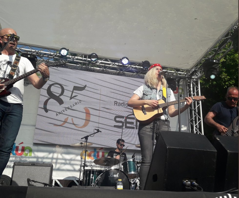 Bluelander han sido de los primeros en actuar esta tarde en Actúa Murcia 2018.