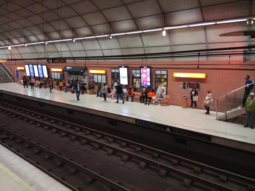 La estación del metro de Moyua convertida en boulevard