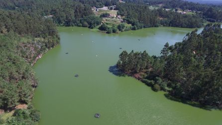 Embalse de A Baxe a vista de Dron. JDrone