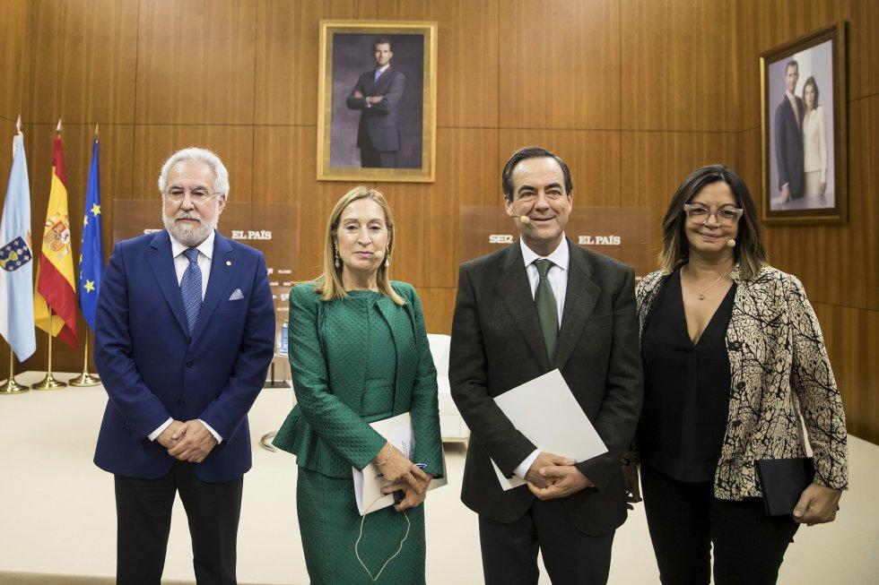 Miguel Santalices, Ana Pastor, José Bono y Ángels Barceló.