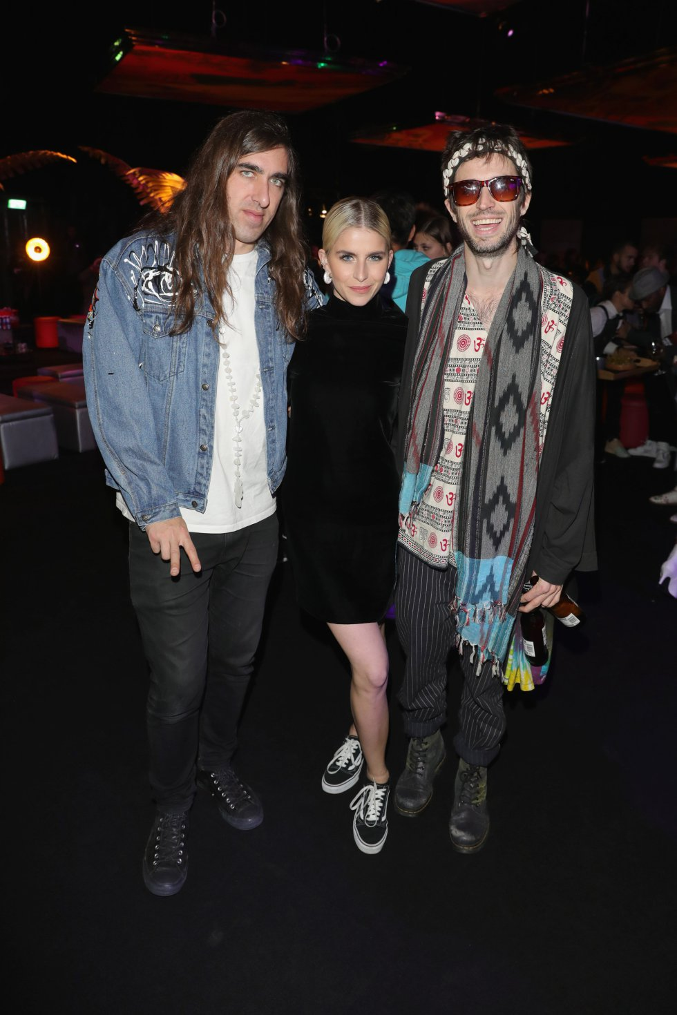 BILBAO, SPAIN - NOVEMBER 04: Gilbert Vierich, Caroline Daur and Sebastian Pringle attend the MTV EMAs 2018 after show party at Bilbao Exhibition Centre on November 4, 2018 in Bilbao, Spain.  (Photo by Andreas Rentz/Getty Images for MTV)