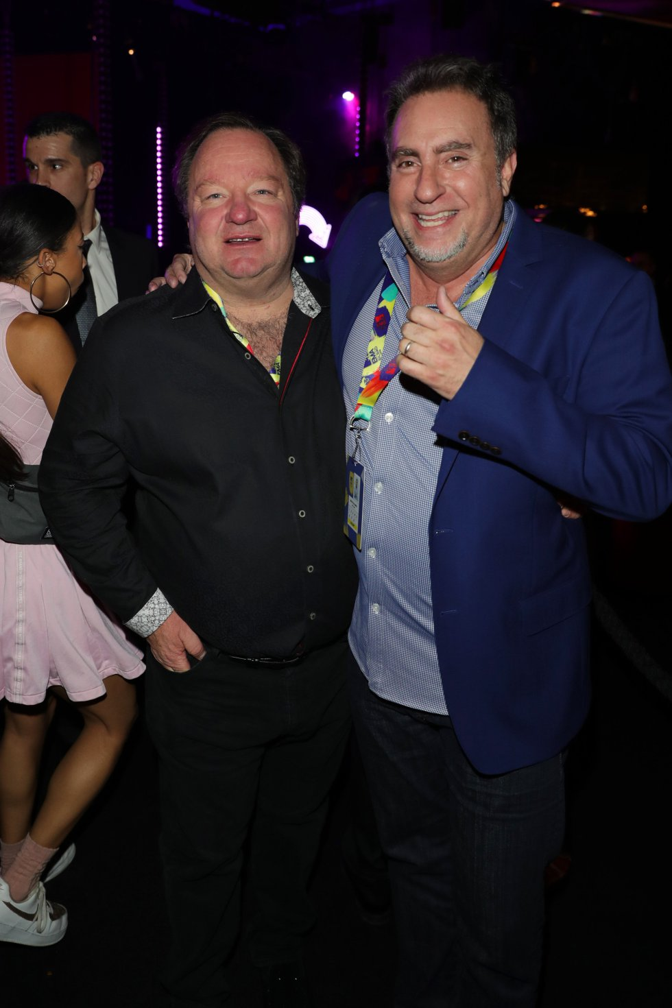 BILBAO, SPAIN - NOVEMBER 04:  (L-R) Viacom CEO Bob Bakish and Global Head of Music and Talent, Viacom and Co-brand Head MTV International Bruce Gillmer attend the MTV EMAs 2018 after show party at Bilbao Exhibition Centre on November 4, 2018 in Bilbao, Spain.  (Photo by Andreas Rentz/Getty Images for MTV)