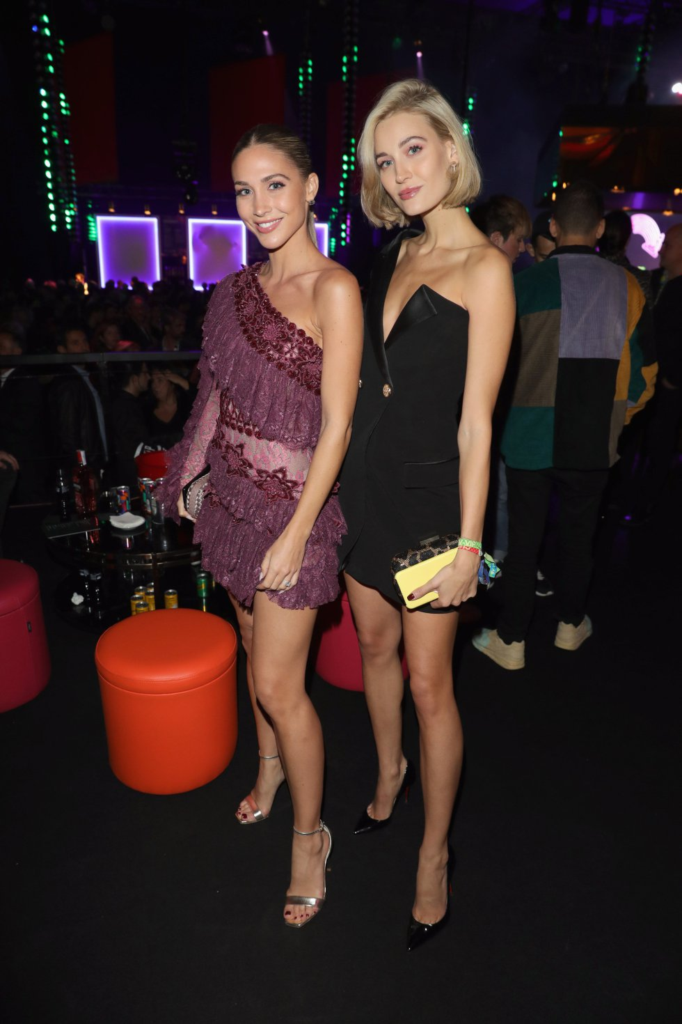 BILBAO, SPAIN - NOVEMBER 04: Ann-Kathrin Gotze and Mandy Bork during the MTV EMAs 2018 after show party at Bilbao Exhibition Centre on November 4, 2018 in Bilbao, Spain.  (Photo by Andreas Rentz/Getty Images for MTV)