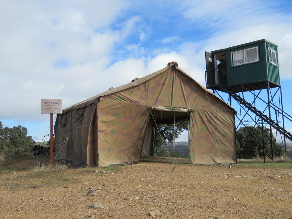 Campo de Tiro, punto de aguada plan contra incendios