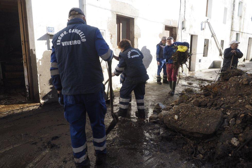 El día después en la zona cero de la riada en Viveiro