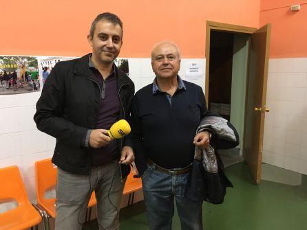 Marcos Pastor, vicepte de la AA VV y promotor del proyecto y Antonio Góngora, Pte de la AA VV Tres Forques