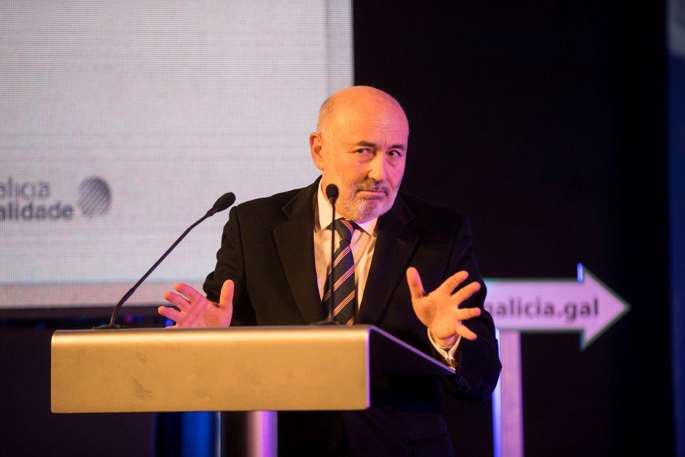 El delegado del gobierno, Javier Losada, durante su discurso.