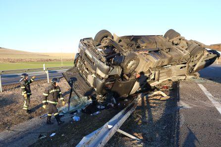 Un accidente ha mantenido cortado el tráfico en la A-62 varias horas
