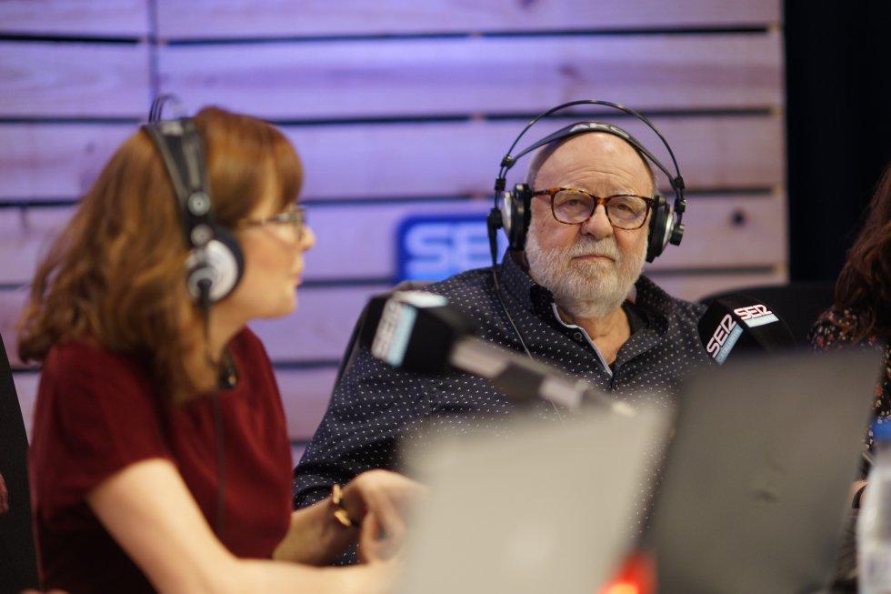 Rosa Badia amb el periodista Jaume Figueras