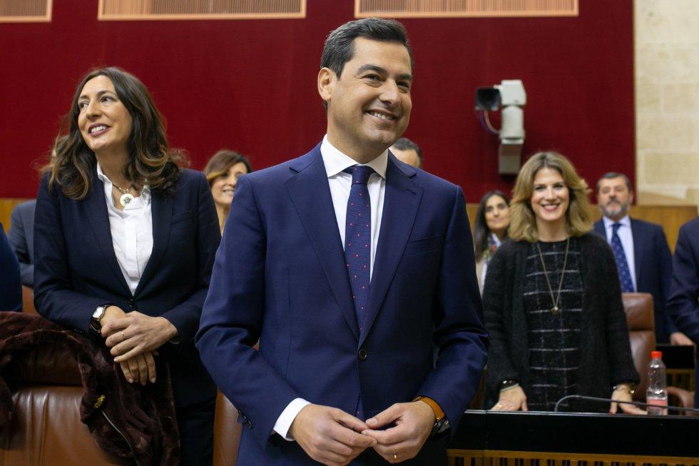 El presidente del PP-A y candidato a la investidura como presidente de la Junta, Juanma Moreno