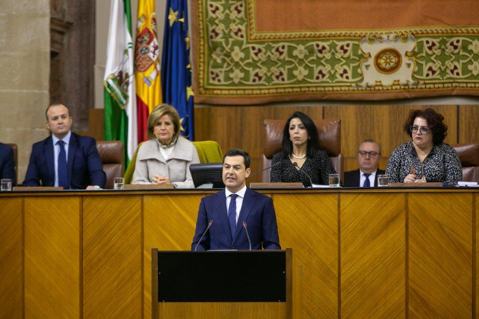 El presidente del PP-A y candidato a la Presidencia de la Junta, Juanma Moreno, ha prometido un gobierno de cambio en la Comunidad