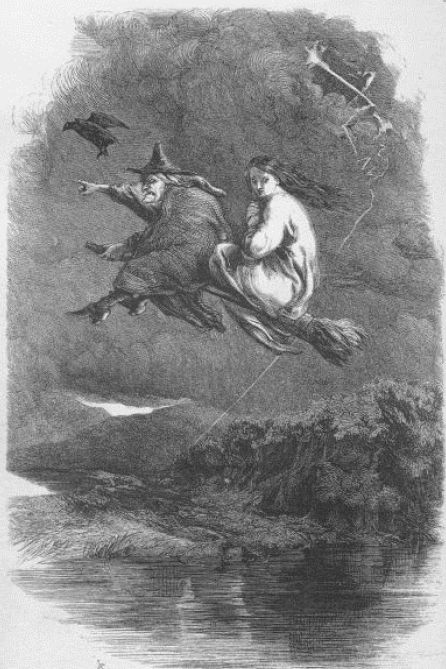 Ilustración de The Lancashire witches, de William Harrison Ainsworth.